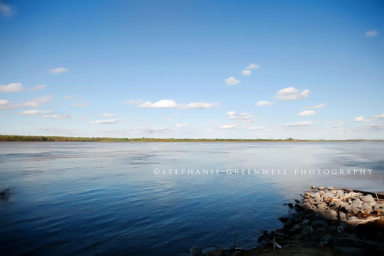 mississippi river blue sky clouds caruthersville missouri stephanie greenwell