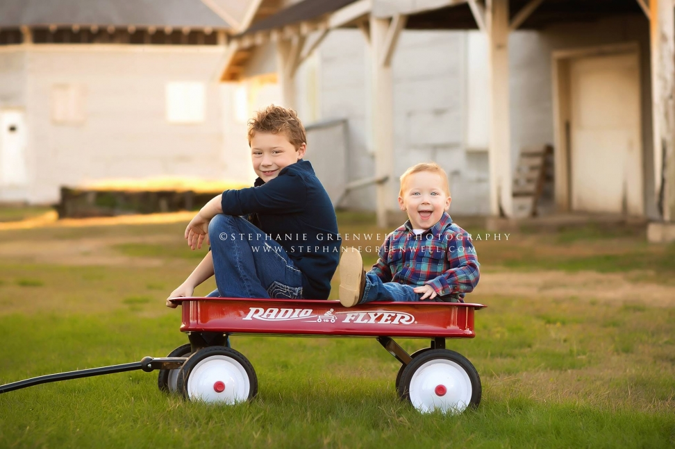 boys siblings brothers red wagon kennett stephanie greenwell southeast missouri photographer