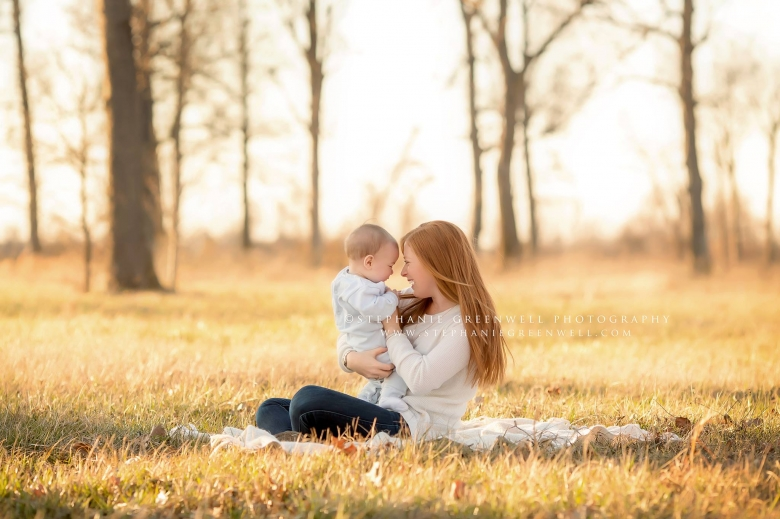 mom baby field orchard mom rocks red hair stephanie greenwell southeast missouri family photography