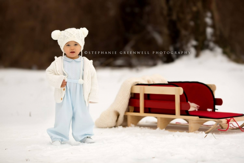 snow mini sessions preston sled snow ice storm southeast missouri photographer stephanie greenwell