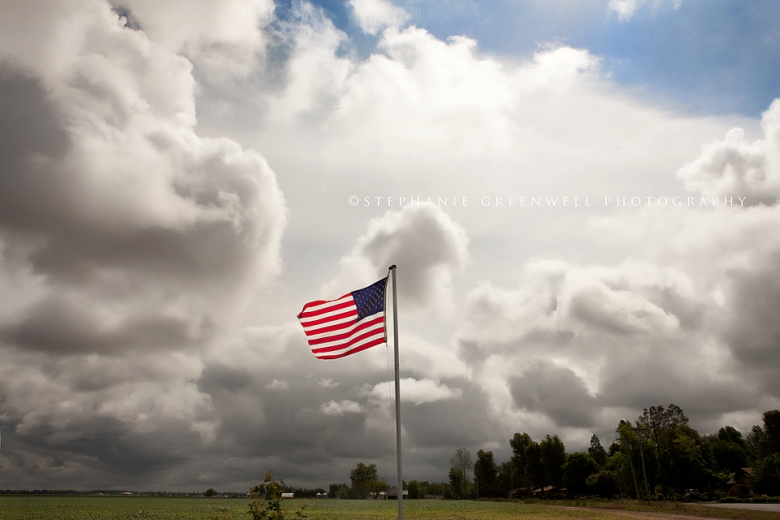 flag memorial day veterans blue sky clouds southeast missouri photography stephanie greenwell