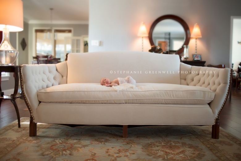newborn vintage antique sofa lifestyle banks memphis tennessee newborn photographer stephanie greenwell