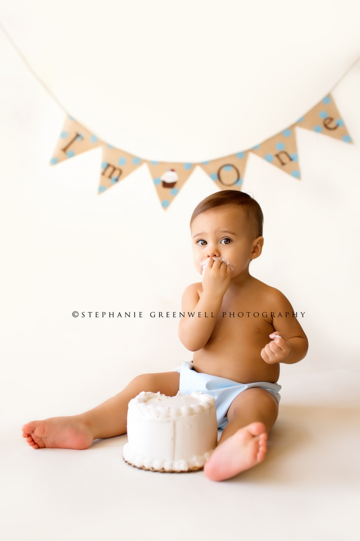 baby boy first birthday diaper cover birthday cake banner southeast missouri photographer stephanie greenwell