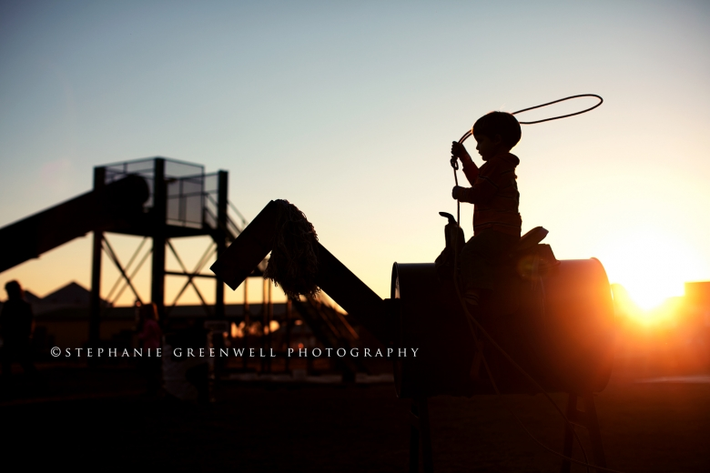 silhouette beggs farm roping cattle lasso sunset southeast missouri stephanie greenwell photography
