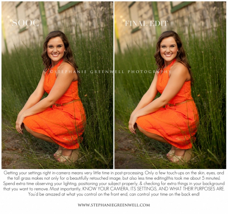 before and after senior photography tips southeast missouri photographer stephanie greenwell