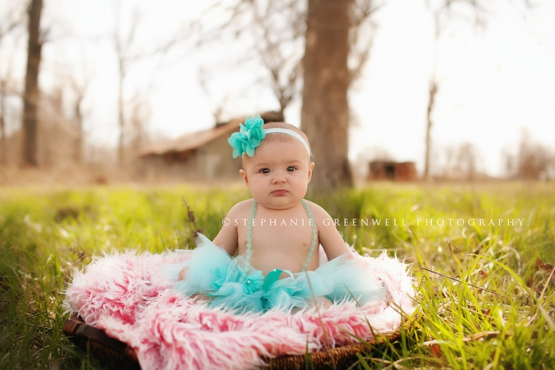carleigh 6 month baby field tutu mohair basket barn southeast missouri photographer