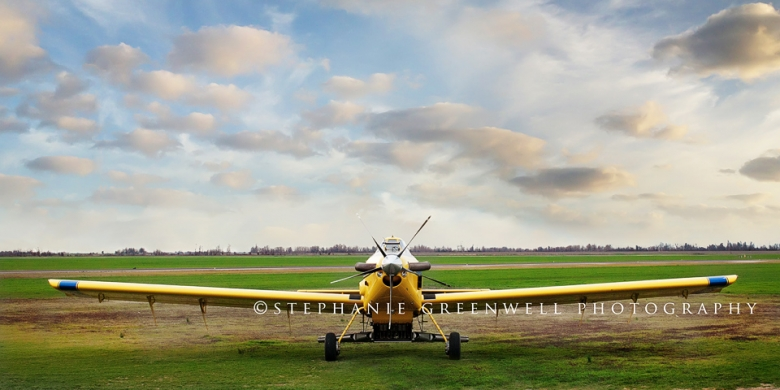 airplane blue sky clouds commercial photography stephanie greenwell southeast missouri