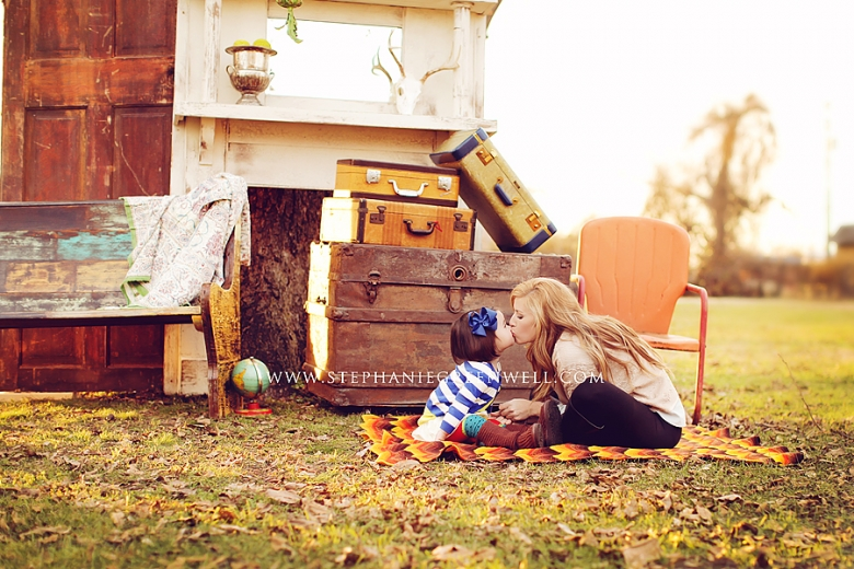 Mother Daughter Vintage Suitcase Props Stephanie Greenwell Photography